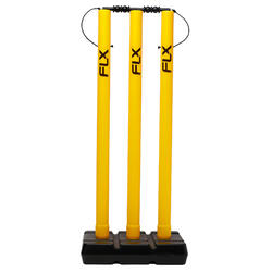 CRICKET WICKET AND STUMP SET, PLASTIC, YELLOW