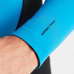 Fahrradunterhemd Langarm 100 Rennrad blau