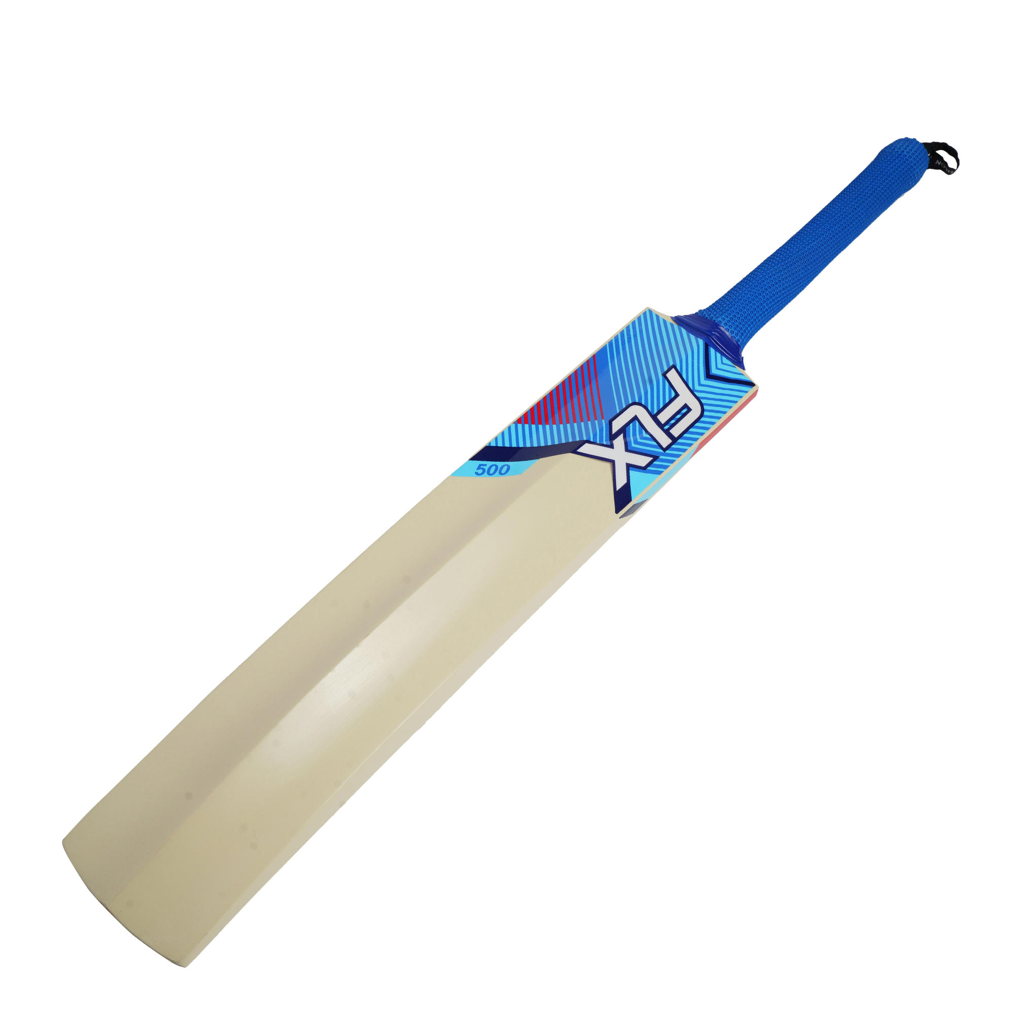 Flx T500 Cricket Bat For Soft Tennis Ball Blue Youth Adults