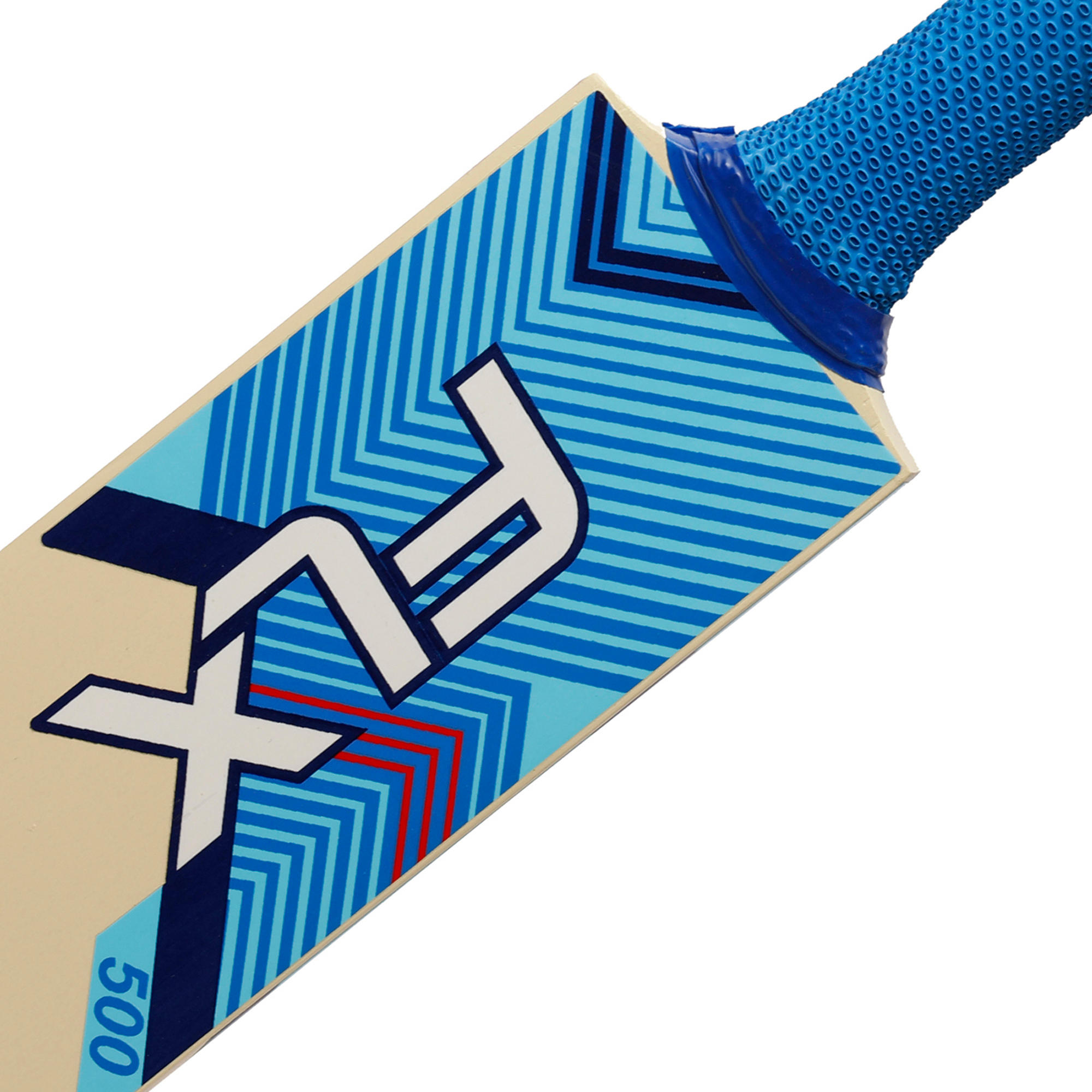FLX T500 Cricket Bat for Soft Tennis Ball, Blue - Youth/Adults