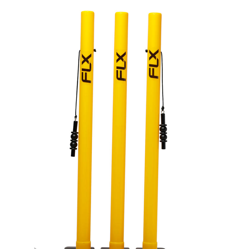 Wicket & Stump Set, all ages, yellow, for tennis ball cricket