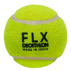 CRICKET SOFT TENNIS BALL, FLUORESCENT GREEN