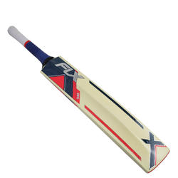 FLX EW 940 English Willow Cricket Bat for Leather Ball,Dark Blue/Red,Youth/Adult