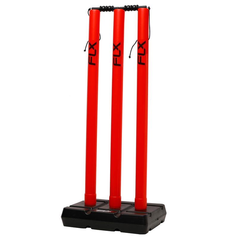 CRICKET Wicket Stump Set, ONE SIZE, RED
