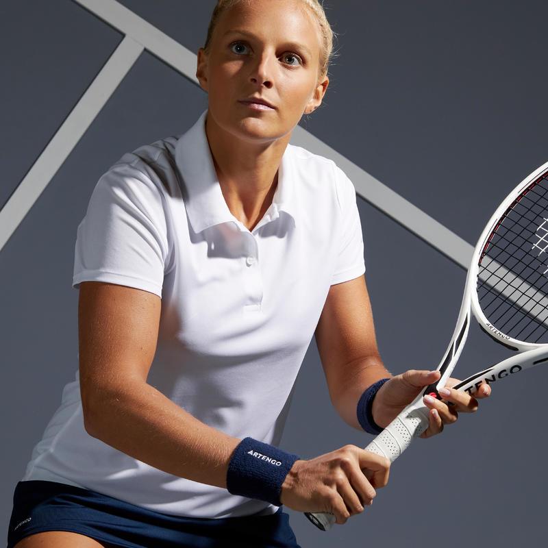 100 Women's Essential Tennis Polo - White