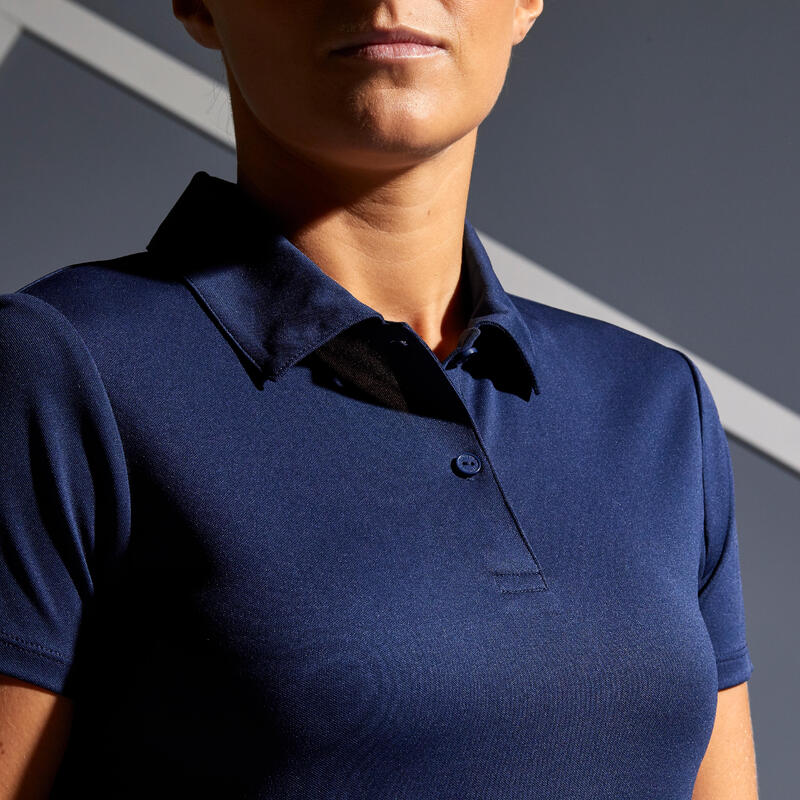 Women's Tennis Polo Shirt Dry 100 - Navy