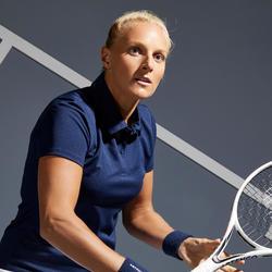 Tennispolo voor dames Dry 100 marineblauw