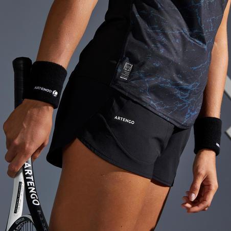 Celana Pendek Tenis Wanita SH Soft 500 - Hitam