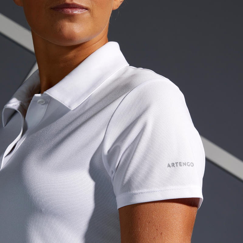 Women's Tennis Polo Dry 100 - White