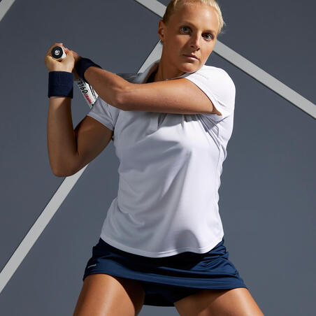 Поло жіноче Dry 100 для тенісу – Біле