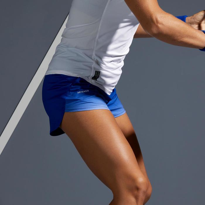Tennisshort voor dames SH SOFT 500 blauw