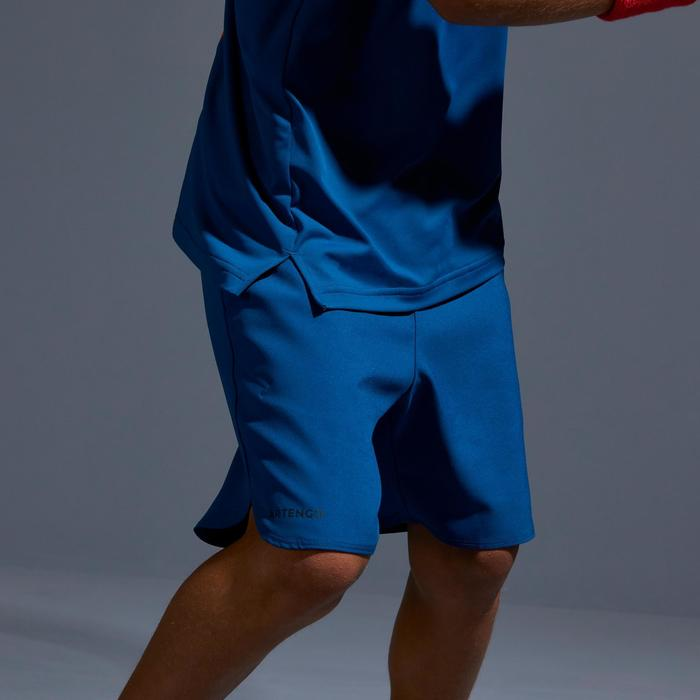 500 Kids' Tennis Shorts - Petrol Blue