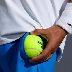 兒童款網球短褲500-藍色