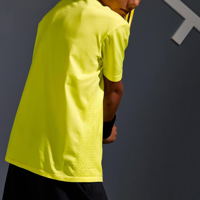 T-Shirt Soft 900 Tennisshirt Jungen neongelb