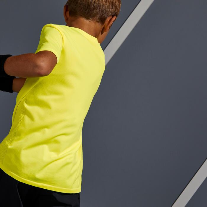 Tennisshirt voor jongens 900 geel