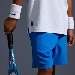 Tennis-Shorts 500 Kinder blau