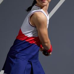 網球連身裙500-白粉藍配色