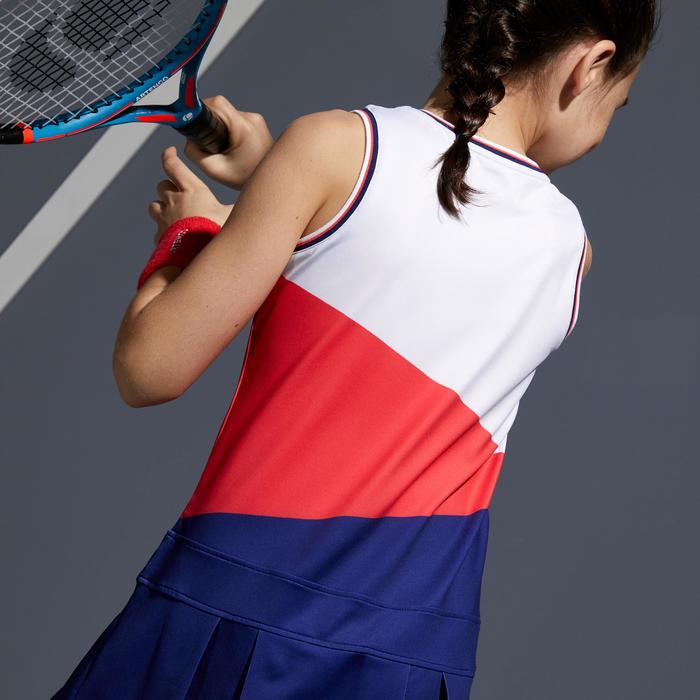500 Kids' Tennis Dress - White/Pink/Blue