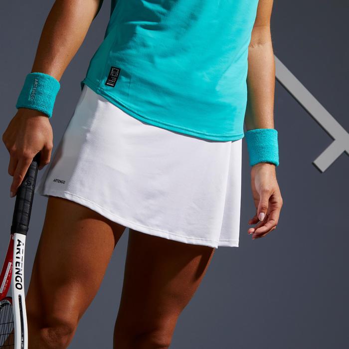 女款網球短裙SK Soft 500-白色