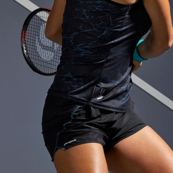 Tennisshort dames SH Light 900 grijs zwart