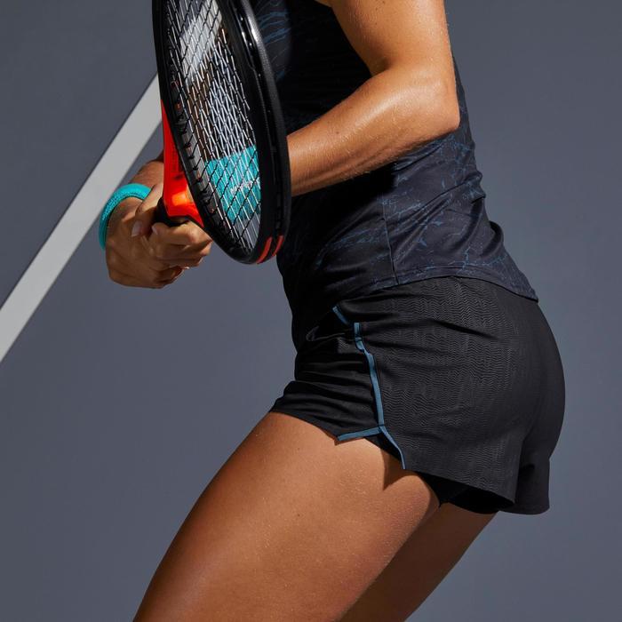女款輕量網球短褲900 SH-黑色