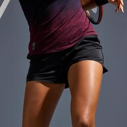 Tennisshort voor dames SH Light 900 zwart