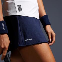 女款網球短裙SK Soft 500-海軍藍