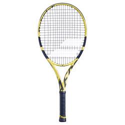 Tennisracket voor kinderen Pure Aero 26 zwart geel 2019
