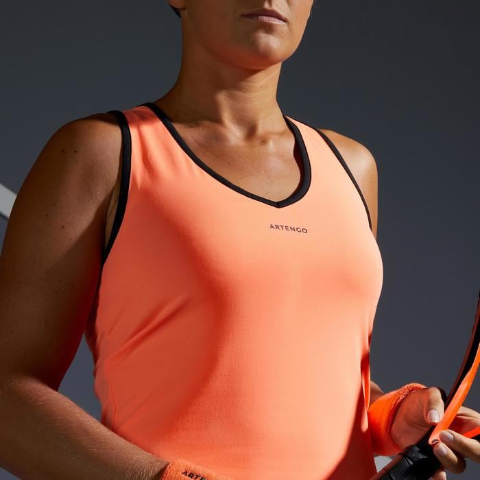 DEBARDEUR DE TENNIS FEMME TK LIGHT 900 ORANGE