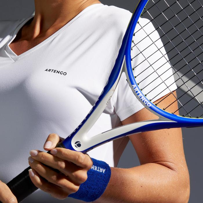 Tennis-T-shirt voor dames TS Soft 500 wit