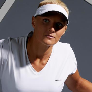 Dame mit Tennis Shirt TS500 Soft White