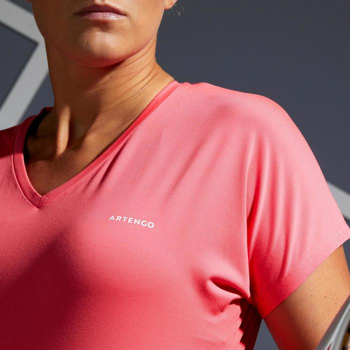 Tennis T-shirt voor dames Soft 500 roze