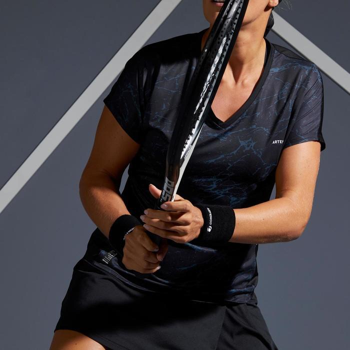 Tennis T-Shirt Soft 500 Damen schwarz