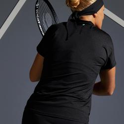 Dames-T-shirt tennis TS Soft 500 zwart