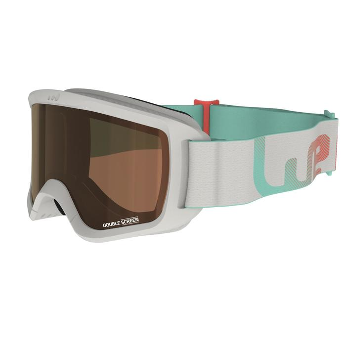 Skibrille G 140 S3 Mädchen und Frauen schönes Wetter grau