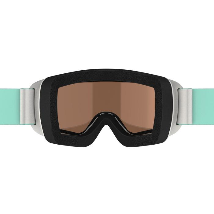 Ski- en snowboardbril voor meisjes en dames G 140 zonnig weer grijs