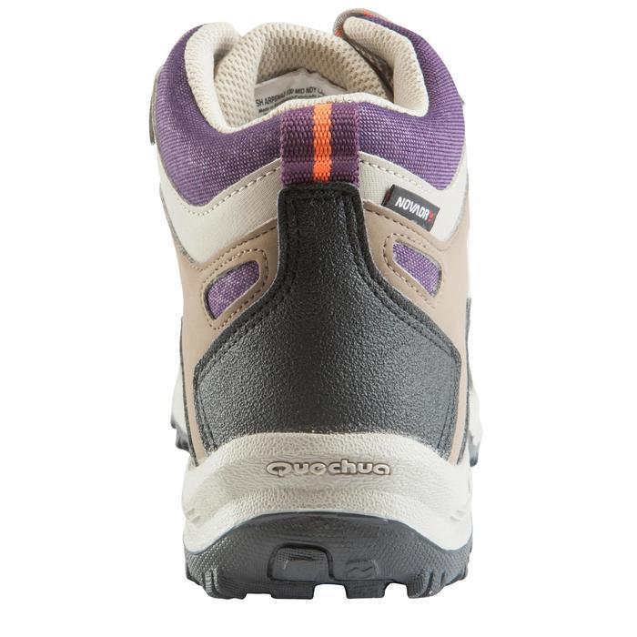 Chaussures de randonnée Nature femme Arpenaz 100 mid imper violette. - 157937