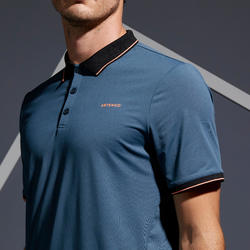 Dry 500 Tennis Polo Shirt - Grey Coral