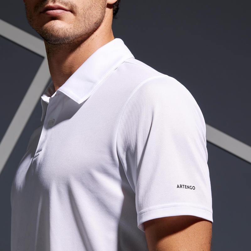 เสื้อโปโลเล่นเทนนิสรุ่น Dry 100 (สีขาว)