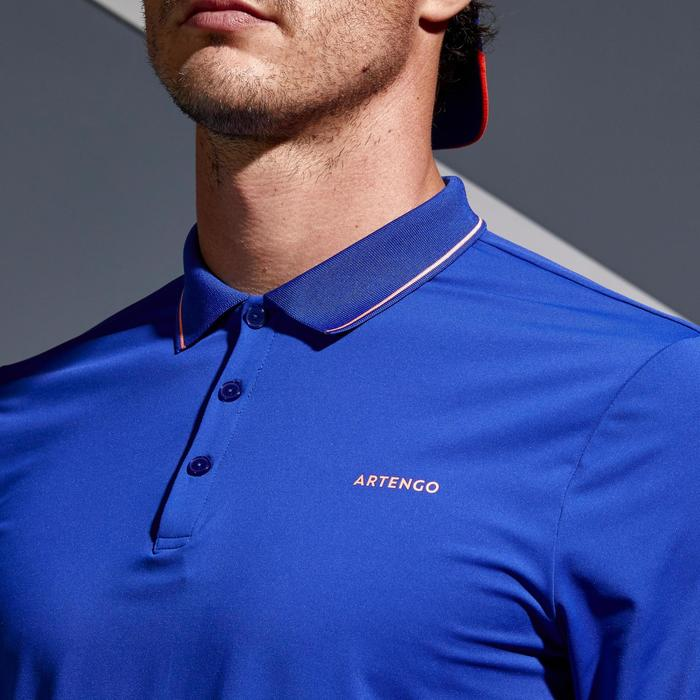 Dry 500 Tennis Polo Shirt - Blue/Coral