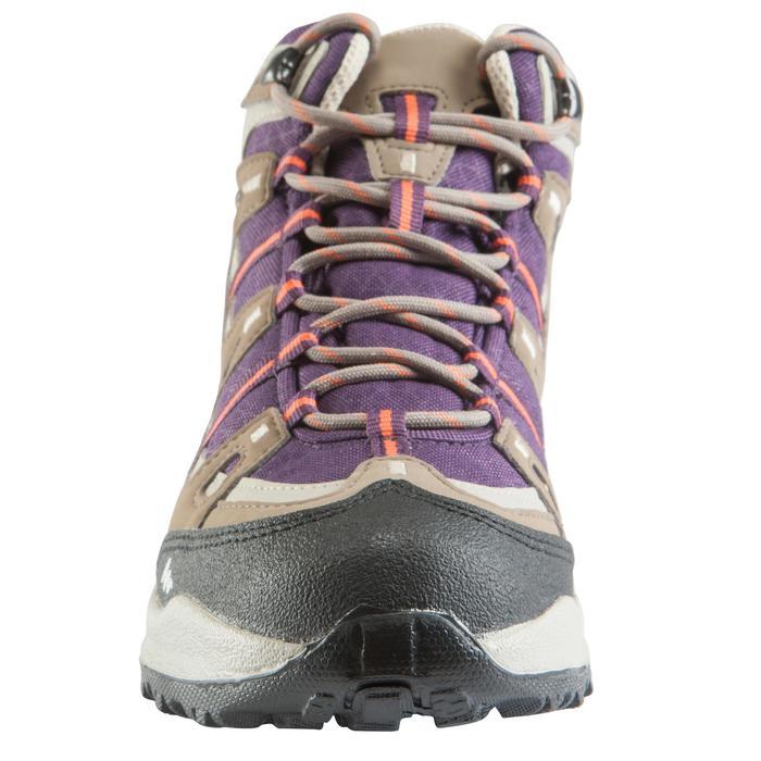 Chaussures de randonnée Nature femme Arpenaz 100 mid imper violette. - 157939