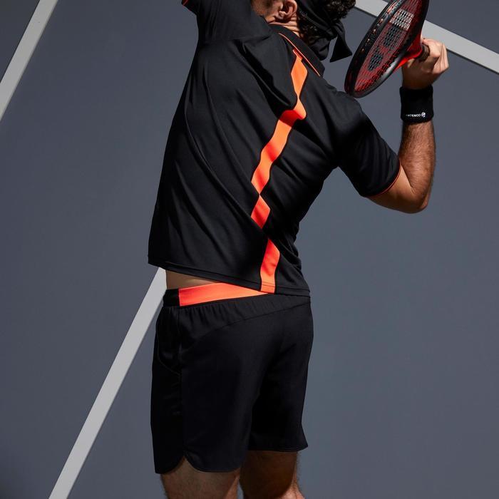 Tennisshort voor heren Dry 500 Court zwart/oranje