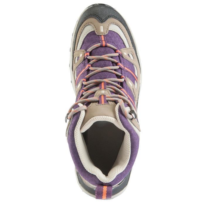 Chaussures de randonnée Nature femme Arpenaz 100 mid imper violette. - 157940