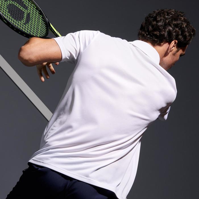 Tennispolo heren Dry 100 wit