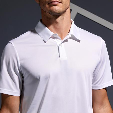 Polo de Tenis Artengo DRY 100 Hombre Blanco
