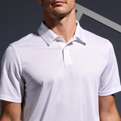 POLO TENNIS HOMME DRY 100 BLANC