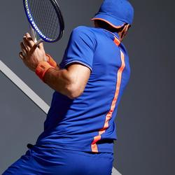 網球Polo衫Dry 500-藍色/珊瑚紅
