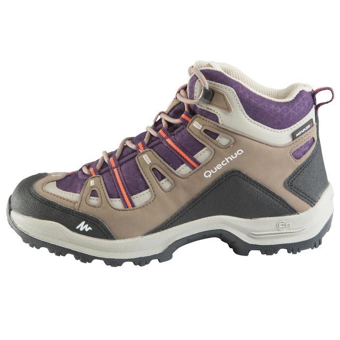 Chaussures de randonnée Nature femme Arpenaz 100 mid imper violette. - 157942