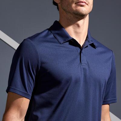 Camiseta Polo de Tenis DRY 100 Hombre Azul Oscuro
