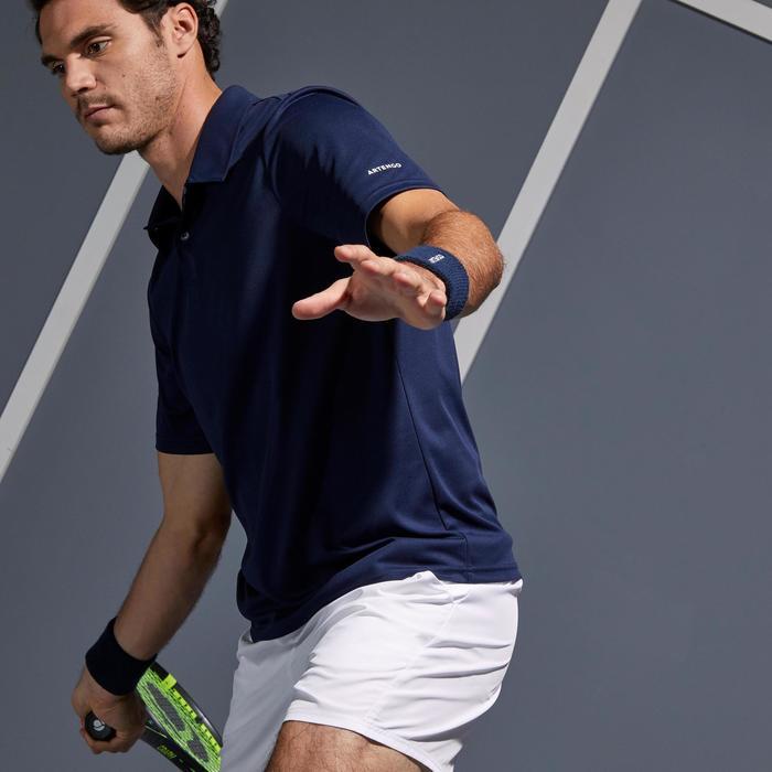 Tennispolo heren Dry 100 marineblauw